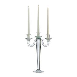 Cyan Design - Cyan Design 02187 Clear Three Light Candelabra Candleholder - Cyan Design 02187 Clear Three Light Candelabra Candleholder