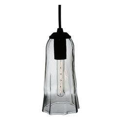 "Meyda Lighting - Meyda Lighting 114921 4""W Finned Clear Wine Bottle Mini Pendant - Meyda Lighting 114921 4""W Finned Clear Wine Bottle Mini Pendant"