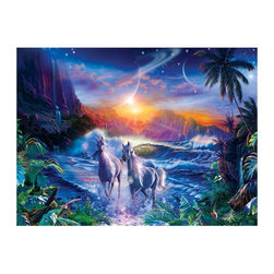 Masterpieces - Masterpieces Glitter Cosmic Serenity Puzzle Multicolor - 31238 - Shop for Puzzles from Hayneedle.com! About Masterpieces Puzzles & GamesFor the past 17+ years Masterpieces has delighted kids and parents. From art kits to puzzles of all levels Masterpieces ensures playtime activities that develop cognition as much as they foster fun. All Masterpiece items are tested for safety and this company is definitely eco-minded: All of their puzzles are manufactured using board with 100% recycled post-consumer materials their puzzle sheets wraps and catalogs are printed with soy-based inks and even included storage bags are biodegradable. Quality mindful products are what you can expect from Masterpieces.