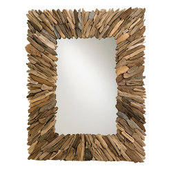 Currey & Company - Currey & Company Beachhead Mirror - This mirror is perfect if you want to implement texture into your space. It's layered with reclaimed wood pieces that vary in color. It's a neutral option but still possesses a lot of interest. The texture helps it stand out and create warmth on any wall.