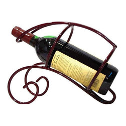 Metrotex - Metrotex Iron Single Bottle Wine Server - Merlot Multicolor - 28012 - Shop for Wine Bottle Holders and Racks from Hayneedle.com! Finished in dark merlot the Metrotex Iron Single Bottle Wine Server - Merlot offers a charming caddy for your favorite wines. Sturdily crafted of solid iron metal this traditional piece is protected by a durable powder coat.