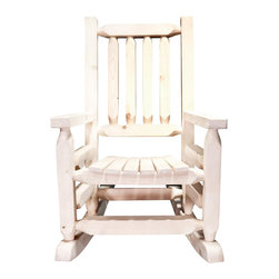 """Montana Woodworks - 20"""" Children Rocker - This smaller, child's size version of our extremely popular log rocking chair, is just the right size for your children, grandchildren or younger friends and family. This rocker will be in the family for generations to come. Constructed with the same careful attention to detail."""