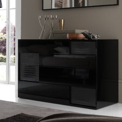 Rossetto Furniture - Nightfly Black Dresser - T412400000028 - Nightfly Collection Dresser