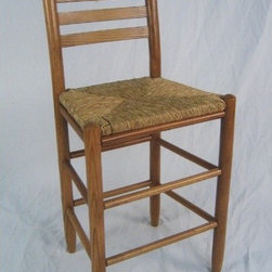 "Dixie Seating - Carolina Ladder Back 24"" Barstool - This is a classic ladder back barstool. The stool is made of solid ash hardwood. This stool measures 38 inches tall by 17.5 inches wide and 14.5 inches deep. Barstool this item features our hand steam bent posts. Made in the USA! Features: -Rush seat bar stool. -Ash, hickory and poplar construction. -Non - toxic lacquer finish. -Handcrafted. -Steam bent back post for comfort. -Interlocking swelled wood joints. -Hand woven rush seat for comfort. -Contoured back slats for comfort. -All products are machine sanded and hand sanded before applying our custom formulated finishes. Dimensions: -Seat : 16"" W (front - side) x 13.5"" (back - side) x 13.5"" D. -38"" H x 17.5"" W x 14.5"" D."