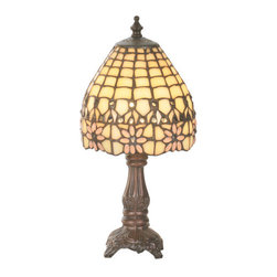 """Meyda Tiffany - Meyda Tiffany 49190 13"""" H Victorian Flourish Mini Lamp - Brilliant and alluring, the 13"""" Height Victorian Flourish Mini Lamp by Meyda Tiffany is a wonderful choice to augment your design. Reward yourself with this classy table lamp utilizing 25 watts per bulb and a bowl shaped shade.Features:"""