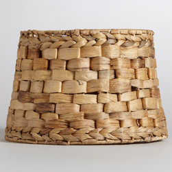 World Market - Natural Basket Accent Lamp Shade - Skilled weaving artisans in Vietnam transformed leaves of water hyacinth, an eco-minded material that's sustainably harvested, into this gorgeous Natural Basket Accent Lamp Shade. It'll infuse your room with style and light.