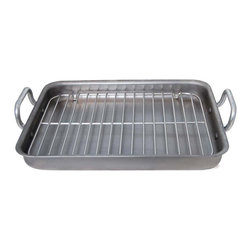 "de Buyer - de Buyer Mineral B Element - 16.73"" x 13.4"" Rectangular Steel Roasting Pan w/Sta - MINERAL B ELEMENT pan: iron is a 100% natural mineral material"