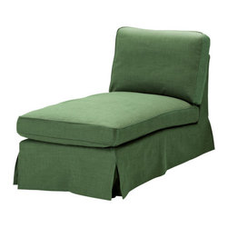 IKEA of Sweden - EKTORP Cover free-standing chaise lounge - Cover free-standing chaise lounge, Svanby green