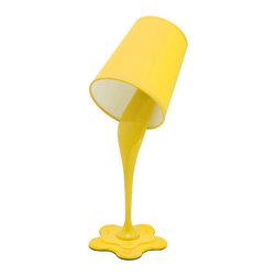 "Lumisource - Woopsy Lamp, Yellow - 7.5"" L x 5.5"" W x 15.5"" H"