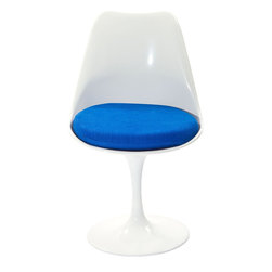 Modway - Modway EEI-115 Lippa Dining Side Chair in Blue - The Lippa Side Chair adds the perfect modern classic touch to any dinning space. Sturdy, easy to clean and lovely to behold, these chairs elevate a meal to whole new levels of enjoyment. Available in an array of colors, the Lippa Chair makes it easy to express your individual style.