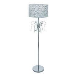 Benzara - Metal Floor Lamp with Intricately Detailed Metal Beaded Tassels - Perfectly suited for contemporary, city homes, this stunning floor lamp is a wonderful accessory to your dream house. Crafted from top-notch quality metal, this attractive lamp redefines sophistication, opulence and beauty. Thanks to the top-quality metal used in its make, it ensures resilience and strength that keeps it strong for years on end. Flaunting an intricately detailed lampshade along with metal beaded tassels on the neck, this lamp is unique and eye catching in appearance. Displaying high-end style at its best, this lamp is a wonderful alternative to regular table lamps, chandeliers and ceiling lights, especially if you want something distinctive. It comes with a dimension of 60 in.  H x 11 in.  W x 11 in.  D.