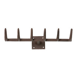 Iron Rake Hook - An iron rake hook is the perfect place to hang guests' jackets.
