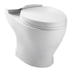 """Toto - Toto CT412F.10#01 Cotton White Aquia Dual Flush Toilet Bowl, 10"""" Rough-in - The rectangular build and modern styling of the Aquia series will bring a contemporary feel and beautiful look to any bath."""