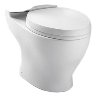 "Toto - Toto CT412F.10#01 Cotton White Aquia Dual Flush Toilet Bowl, 10"" Rough-in - The rectangular build and modern styling of the Aquia series will bring a contemporary feel and beautiful look to any bath."
