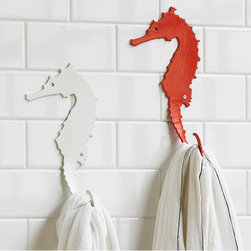 Seahorse Hook - Seahorses are just crazy when you think about it, and so are their names, but I just love their fun silhouettes. Why not add one to your wall and hang your robe from it?