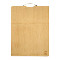 Cook N Home - Cook N Home Natural Bamboo Cutting Board With Handle - What's in Box: Bamboo cutting board 16-inch x 12-inch reversible