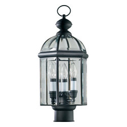 Quorum International - Quorum International 734-3-15 Black Wellsley Traditional / Classic 3 - Wellsley OutdoorBulbs: (3) 60W CandelabraUL Wet