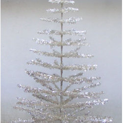 6' Silver Aluminum Christmas Tree - Vintage Style - This is a new tree, a great replica of the retro classic silver tree. You can find vintage trees at yard sales and on eBay, or maybe your granny has one stored away that she will give to you.