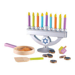 KidKraft - Chanukah Set by Kidkraft - Our Chanukah Set is great for bringing families together to celebrate the holidays. This wooden play set is a fun gift idea that comes with its very own cloth storage bag.