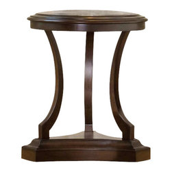 Hooker Furniture - Hooker Furniture Classique Accent Nightstand in Medium Chestnut - Hooker Furniture - Nightstands - 506790015 - Soft edges. Artful curves. Beveled turnings. Classic becomes fresh through design details and a beautiful medium chestnut colored finish on okume veneers in the Classique collection.