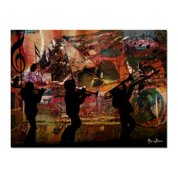 Ready2HangArt - Ready2hangart Alexis Bueno Jazz Trio' Canvas Wall Art - This musical abstract canvas art is the perfect addition to any contemporary space. As part of Alexis Bueno' series 'Music is Living', his bold strokes are enhanced by the notes of music. It is fully finished, arriving ready to hang on the wall of your choice.