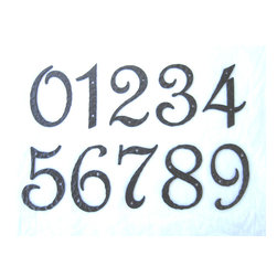 AN6 Spanish style wrought iron address plaques -