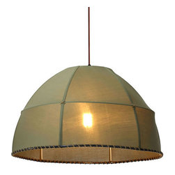 ZUO PURE - Marble Ceiling Lamp Pea Green - The Marble ceiling lamp's large linen shade will create a warm glow in any room. Comes with one 100W bulb and is UL approved