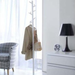 """Paul - Modern Coat Rack / Stand, 70"""" High - The innovative design and durable construction create an unique free standing metal coat rack"""