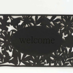 Tag Everyday - Welcome Rubber Doormat - Creates a welcoming entrance to your home. Molded rubber doormats made from a mixture of recycled rubber, fillers and virgin rubber. Weather resistant. Easy to clean.Color: Black. 20 in. x 30 in.