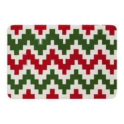 "KESS InHouse - KESS Original ""Christmas Gram"" Chevron Memory Foam Bath Mat (24"" x 36"") - These super absorbent bath mats will add comfort and style to your bathroom. These memory foam mats will feel like you are in a spa every time you step out of the shower. Available in two sizes, 17"" x 24"" and 24"" x 36"", with a .5"" thickness and non skid backing, these will fit every style of bathroom. Add comfort like never before in front of your vanity, sink, bathtub, shower or even laundry room. Machine wash cold, gentle cycle, tumble dry low or lay flat to dry. Printed on single side."