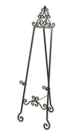 Uttermost - Uttermost 20632 Idalee Distressed Black Decorative Easel - Uttermost 20632 Idalee Distressed Black Decorative Easel