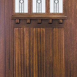 "Slab Single Door 80 Wood Mahogany Craftsman 3 Panel 6 Lite TDL Glass - SKU#    A42CMC42-GBrand    GlassCraftDoor Type    ExteriorManufacturer Collection    Craftsman DoorsDoor Model    Craftsman 6 LiteDoor Material    WoodWoodgrain    MahoganyVeneer    Price    625Door Size Options      +$percent  +$percentCore Type    Door Style    CraftsmanDoor Lite Style    6 LiteDoor Panel Style    3 PanelHome Style Matching    CraftsmanDoor Construction    TDLPrehanging Options    SlabPrehung Configuration    Single DoorDoor Thickness (Inches)    1.75Glass Thickness (Inches)    Glass Type    Double GlazedGlass Caming    Glass Features    Low-E , Tempered ,  Low-E , BeveledGlass Style    Glass Texture    ClearGlass Obscurity    No ObscurityDoor Features    Door Approvals    Wind-load Rated , FSC , TCEQ , AMD , NFRC-IG , IRC , NFRC-Safety GlassDoor Finishes    Door Accessories    Weight (lbs)    248Crating Size    25"" (w)x 108"" (l)x 52"" (h)Lead Time    Slab Doors: 7 daysPrehung:14 daysPrefinished, PreHung:21 daysWarranty    One (1) year limited warranty for all unfinished wood doorsOne (1) year limited warranty for all factory?finished wood doors"
