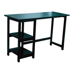 """TMS - Emory Computer Desk - This Emory writing desk creates a modern look for your home office or kids room. It has a spacious desk top that allows you to work comfortably. It comes with two shelves that you can store books, files or even stationary. This desk is made of engineered wood and solid wood. Features: -Constructed of engineered and solid wood.-Distressed: No.Dimensions: -Dimensions: 29.5'' Height x 47.2'' Width x 18.7'' Depth.-Overall Height - Top to Bottom: 29.5"""".-Overall Width - Side to Side: 47.2"""".-Overall Depth - Front to Back: 18.7"""".Assembly: -Assembly required."""