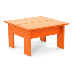 Loll Designs - Lollygagger Ottoman, Sunset Orange - The Lollygagger Ottoman (Side Table) is an integral part of our Lollygagger family collection. This is a versatile little piece that works nicely as an Ottoman with the Lollygagger Lounge or Sofa and will even work as a stool for the smaller folks. It's also perfectly sized as a Side Table for the Lollygagger Chaise.