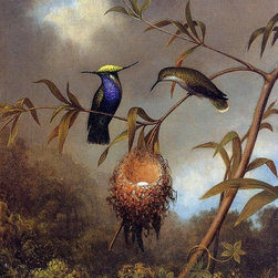 "Martin Johnson Heade Black-Breasted Plovercrest - 16"" x 20"" Print - 16"" x 20"" Martin Johnson Heade Black-Breasted Plovercrest premium archival print reproduced to meet museum quality standards. Our museum quality archival prints are produced using high-precision print technology for a more accurate reproduction printed on high quality, heavyweight matte presentation paper with fade-resistant, archival inks. Our progressive business model allows us to offer works of art to you at the best wholesale pricing, significantly less than art gallery prices, affordable to all. This line of artwork is produced with extra white border space (if you choose to have it framed, for your framer to work with to frame properly or utilize a larger mat and/or frame).  We present a comprehensive collection of exceptional art reproductions byMartin Johnson Heade."