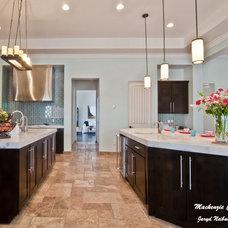 Transitional Kitchen by Mackenzie Collier Interiors