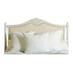 Eloquence - Louis XVI French Country Natural Linen Upholstered Headboard - King - Headboards are the ultimate accessories for beds, with the ability to 'make' a room in one fell swoop.  This classic Louis XVI inspired upholstered headboard is one of those room makers, delivering traditional good looks and a subtle luxury to any room.