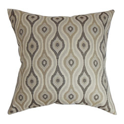 "The Pillow Collection - Fillie Ikat Pillow Gray 18"" x 18"" - Update your decor style by adding this unique accent pillow. This square pillow sports an intricate ikat pattern in various shades of gray. This decor pillow is ideal for home and office use. Place it anywhere inside your home from your living room to your kitchen. This 18"" pillow coordinates well with other patterns like geometric, floral and more. Crafted from a blend of high-quality materials, 50% cotton and 50% polyester. Hidden zipper closure for easy cover removal.  Knife edge finish on all four sides.  Reversible pillow with the same fabric on the back side.  Spot cleaning suggested."