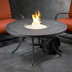 Nightfire 42-in Round Fire Pit Table - Nightfire 42-in Round Fire Pit Table can be used with natural gas or propane — just tell the Mantels Direct customer service representative when you order. -Mantels Direct