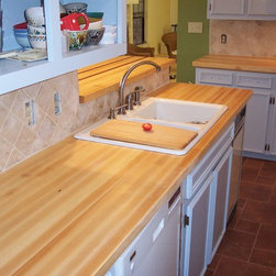 WR Woodworking - Maple Edge grain wood counter top - Hard Maple edge grain counter top.  wrwoodworking.com