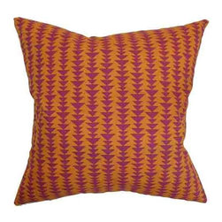The Pillow Collection - Jiri Orange 18 x 18 Geometric Throw Pillow - - Pillows have hidden zippers for easy removal and cleaning  - Reversible pillow with same fabric on both sides  - Comes standard with a 5/95 feather blend pillow insert  - All four sides have a clean knife-edge finish  - Pillow insert is 19 x 19 to ensure a tight and generous fit  - Cover and insert made in the USA  - Spot clean and Dry cleaning recommended  - Fill Material: 5/95 down feather blend The Pillow Collection - P18-D-21047-MANGO-C100
