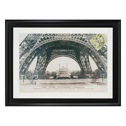 Paragon - La Base de la Tour Eiffel - Framed Art - Each product is custom made upon order so there might be small variations from the picture displayed. No two pieces are exactly alike.
