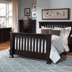Spice Crib converted into Full Bed - •Spice features a straight, frame headboard and can convert to a Toddler bed and either a Full or a QUEEN bed!