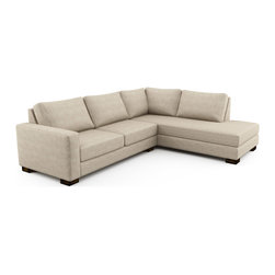 Viesso - Rio Wedge Open Sectional (Custom) - Classically modern. This modern sofa design uses classic lines within the larger context of modern aesthetic. Its depth is comfortable, but not too loungy, and the proportions fit well with a wide range of other furniture styles. Please note that if needed, the Rio sectional and its pieces can be made in any size to the inch to fit your space perfectly.