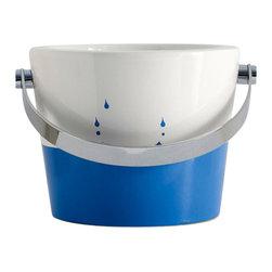 Scarabeo - Raindrop Ceramic Bucket Bathroom Sink - Contemporary style vessel bathroom bucket sink.