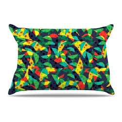 "Kess InHouse - Akwaflorell ""Fruit and Fun"" Pillow Case, King (36"" x 20"") - This pillowcase, is just as bunny soft as the Kess InHouse duvet. It's made of microfiber velvety fleece. This machine washable fleece pillow case is the perfect accent to any duvet. Be your Bed's Curator."