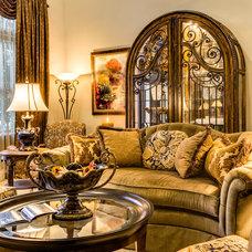 Mediterranean Living Room by Luv2Dezin LLC - Deziner Tonie - Decorating Den