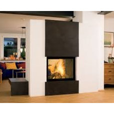 double sided wood burning fireplace - Google Search