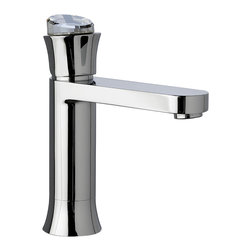 Maier - Musa Bathroom Faucet w/ Swarovski Crystal, Polished Chrome - Musa collection sink faucet only one hole with genuine Swarovski crystals inlaid on the handle, made in brass polished chrome. Luxury faucet that raises the level of elegance in any bathroom it is installed, this big genuine Swarovski Crystal in the handle gets the attention of anyone who steps in to the bathroom. Click-clack waste drain included as a free gift. Very decorative. This faucet will ensure many years of trouble free use and enjoyment. Beautifully coordinates with soe other bathroom accessories available online in our Houzz profile stock items. Designed and Manufactured in Spain.