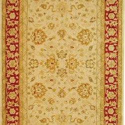 """Safavieh - Safavieh Anatolia AN522C 2'3"""" x 12' Ivory, Red Rug - Anatolia Collection brings old world sophistication and quality in new tufted rugs. This collection captures the authentic look and feel of the decorative rugs made in the late 19th century in this region. Hand spun wool and an ancient pot dying technique together with a densely woven thick pile, gives Anatolia rugs their authentic finish."""